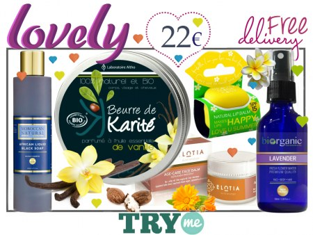 SOLD OUT Organic Beauty Box - Lovely Try Me Kit