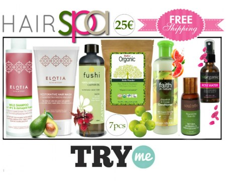 SOLD OUT! Organic Beauty Box! Hair Spa Try Me Kit