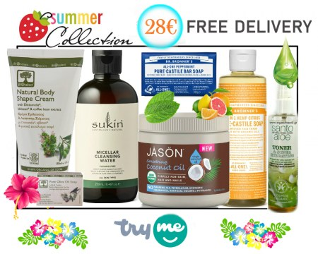Organic Beauty Box -  Summer Collection  Try Me Kit