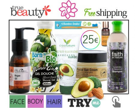 SOLD OUT! Organic Beauty Box! True Beauty Try Me Kit