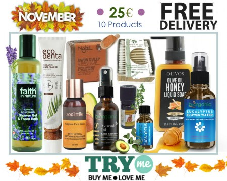 SOLD OUT!  Organic Beauty Box -  Hello November Try Me Kit