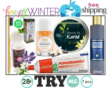 SOLD OUT! Organic Beauty Box! Happy Winter Try Me Kit