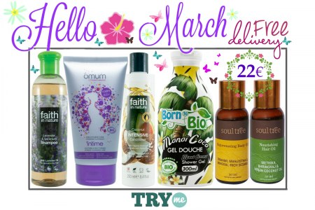 SOLD OUT Organic Beauty Box - Hello March Try Me Kit