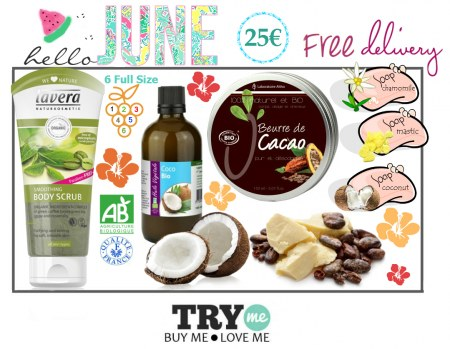 SOLD OUT - Organic Beauty Box - Hello June Try Me Kit