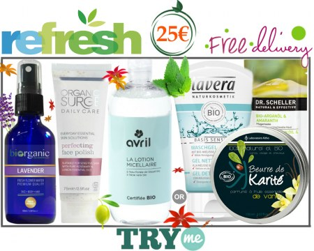 SOLD OUT! Organic Beauty Box -  ReFresh Try Me Kit