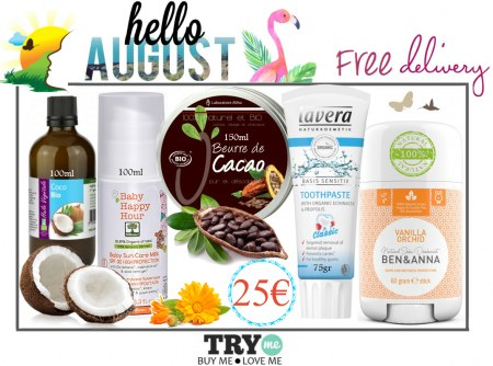 SOLD OUT ! Organic Beauty Box - Hello August Try Me Kit