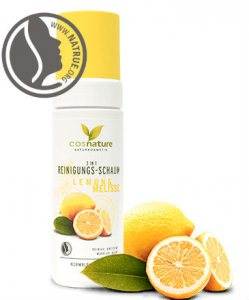 Cosnature Naturkosmetik- 3 in 1 Face Cleansing Foam Lemon & Melissa