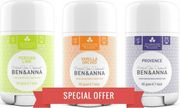 Ben & Anna Deodorants SPECIAL OFFER - 3 Εξαιρετικά Φυσικά Αποσμητικά Stick! Vanilla Orchid & Lavender & Lime