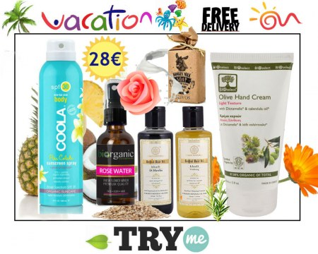 SOLD OUT! Organic Beauty Box - Vacation Try me Kit